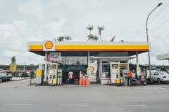 Benzynowa stacja, paliwo stacja, refilling stację Zdjęcie Royalty Free