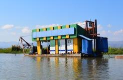 Benzynowa stacja w Inle jeziorze Zdjęcie Stock
