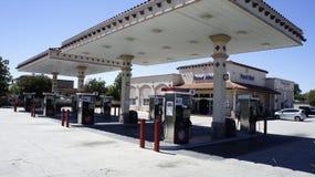 Benzynowa stacja Widoczna Obraz Stock