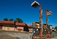 benzynowa stara stacja Obraz Royalty Free