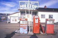 benzynowa stara wiejska stacja Zdjęcie Royalty Free