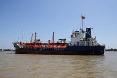 Benzynowa tankowa statku kotwica Obraz Royalty Free
