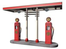 Benzynowe rocznik Pompy Zdjęcia Stock