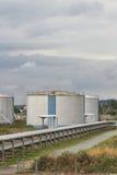 Benzynowego magazynu Terminal Zdjęcia Stock