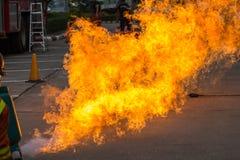 Benzynowego ogienia demonstracja od lpg Obraz Stock