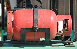 Benzynowego paliwa zbiornik forklift Zdjęcie Stock