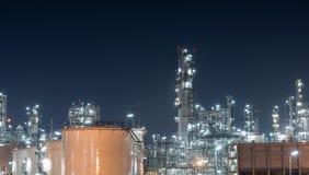 Benzynowego zbiornika oleju zakład petrochemiczny Obrazy Royalty Free