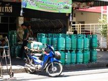 Benzynowej butli sklep zdjęcie stock