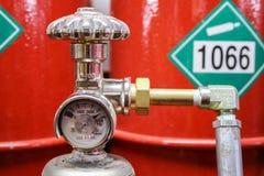 Benzynowej klapy azot 1066 zdjęcia royalty free