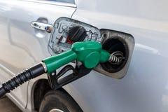 Benzynowej pompy Nozzle Obrazy Royalty Free