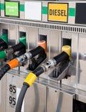 Benzynowej pompy nozzles Zdjęcie Royalty Free
