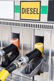 Benzynowej pompy nozzles Fotografia Stock