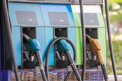 Benzynowej pompy nozzles Zdjęcie Stock