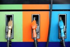 Benzynowej pompy nozzles Fotografia Royalty Free