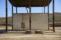 benzynowej staci ciężarówek kopalnia Obraz Royalty Free