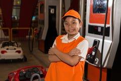 Benzynowej staci pracownik Obraz Stock