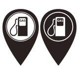 Benzynowej staci szpilki pointer w dwa kolorów wersi Obrazy Royalty Free