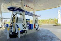 Benzynowej staci wyspa Zdjęcie Royalty Free
