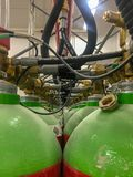 Benzynowi składowi zbiorniki fotografia stock