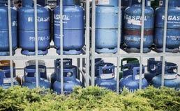 Benzynowi zbiorniki Zdjęcia Stock