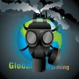 benzynowy globalny maskowy nagrzanie royalty ilustracja