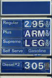 benzynowy humorystyczny znak fotografia royalty free