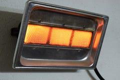 Benzynowy nagrzewacz domowy włączenia zakończenie zdjęcie stock