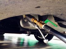 benzynowy napełnianie Fotografia Stock