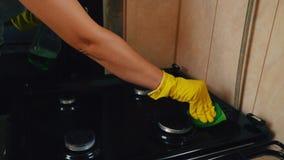 Benzynowy półkowy cleaning zbiory wideo