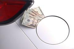 Benzynowy pieniądze Zdjęcia Royalty Free