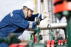 Benzynowy produkcja operator Obraz Royalty Free