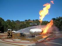 Benzynowy przecieku ogień zdjęcia royalty free