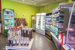 Benzynowy sklep inside Fotografia Stock
