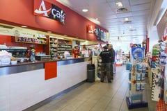 Benzynowy sklep inside Obrazy Royalty Free