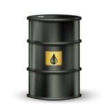 Benzyny baryłka z kroplą Obraz Royalty Free