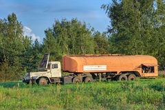 Benzyny ciężarówka Obraz Royalty Free