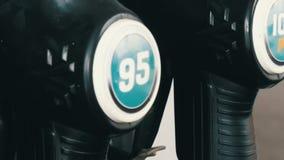 Benzyny lub staci benzynowej paliwowej pompy nozzle benzynowy zrozumienie zbiory