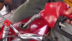 Benzyny nozzle refilling w górę motocykl benzyny zbiornika zbiory