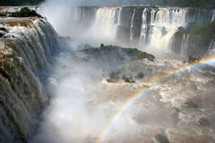 Beobachten des Punktes durch Iguazu Falls Stockfotografie