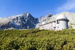 Beobachtungsgremium Lomnicky Spitze, hohes Tatras, Slowakei Lizenzfreies Stockbild