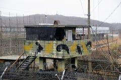 Beobachtungsposten DMZ Südkorea stockfotos