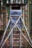 Beobachtungsstelle der wild lebenden Tiere Stockbilder