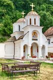 The Beocin monastery. Beocin, Serbia July 22, 2017: The Beocin monastery is a Serbian Orthodox monastery, located just outside Beočin, on Fruška Gora mountain Royalty Free Stock Images