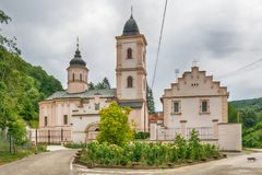 The Beocin monastery. Beocin, Serbia July 22, 2017: The Beocin monastery is a Serbian Orthodox monastery, located just outside Beočin, on Fruška Gora mountain Royalty Free Stock Image