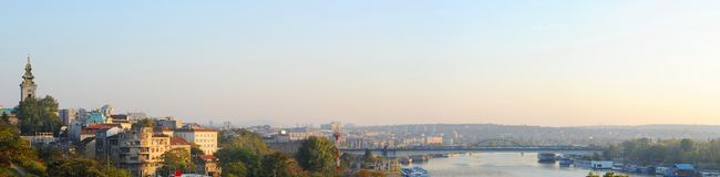 Beograd. Panorama of Beograd at sunset. Serbia royalty free stock image