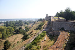 Beograd fortress. Wall of Beograd fortress on the hill, Serbia stock photos