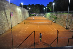 Beograd. Tennis court in night Beograd royalty free stock photos
