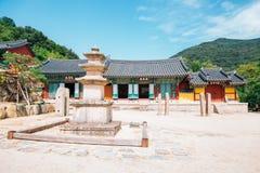 Beomeosatempel, Koreaanse traditionele architectuur in Busan, Korea stock foto's