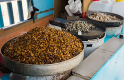 Beondegi, τρόφιμα οδών σε Busan/Νότια Κορέα Στοκ Φωτογραφίες