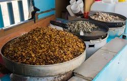 Beondegi, alimento della via Busan/Corea del Sud Fotografie Stock
